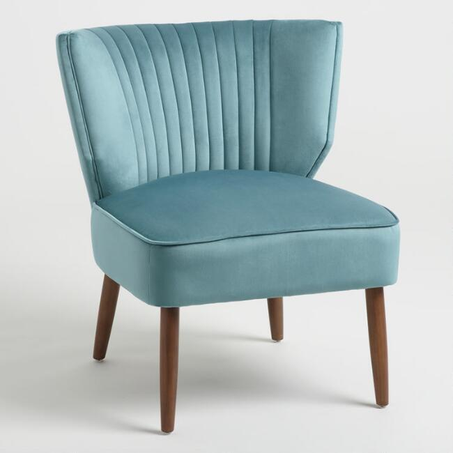 Blue Channel Back Bretta Chair