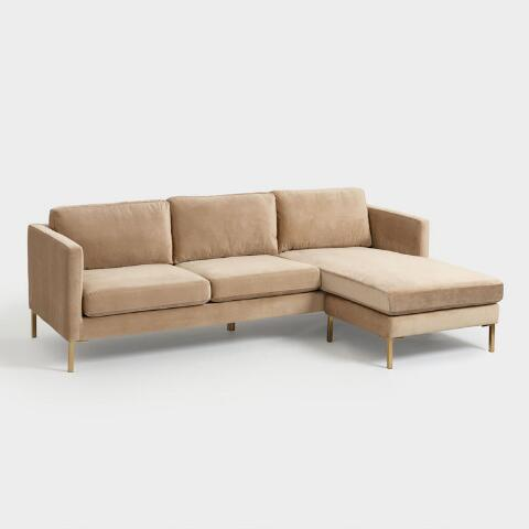 Fantastic Camel Caitlin Sectional Sofa With Chaise Download Free Architecture Designs Scobabritishbridgeorg