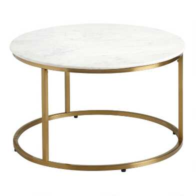 Round White Marble Milan Coffee Table
