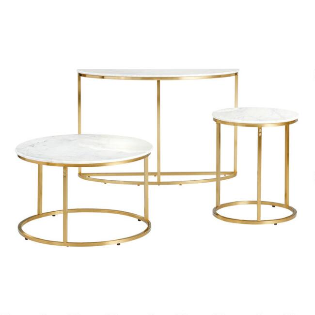 White Marble Milan Table Collection