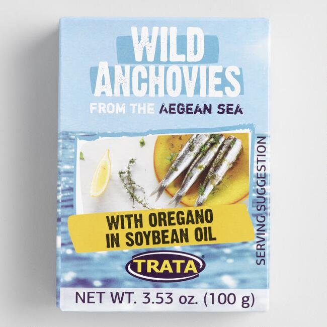 TRATA Anchovies with Oregano and Soybean Oil Set of 8