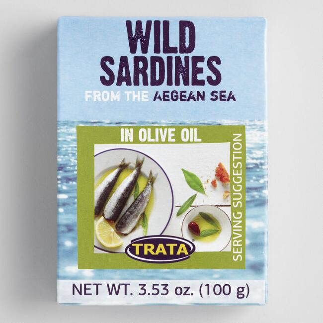 TRATA Sardines with Extra Virgin Olive Oil Set of 8