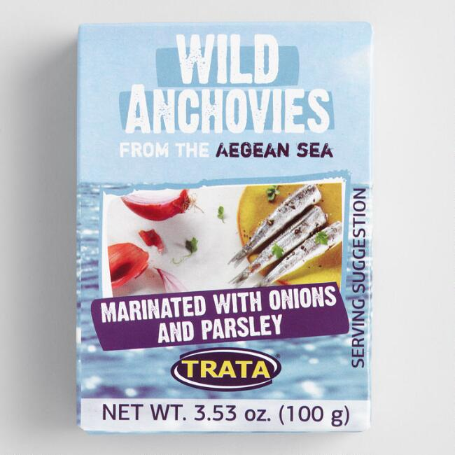 TRATA Anchovies Marinated with Onion and Parsley Set of 8