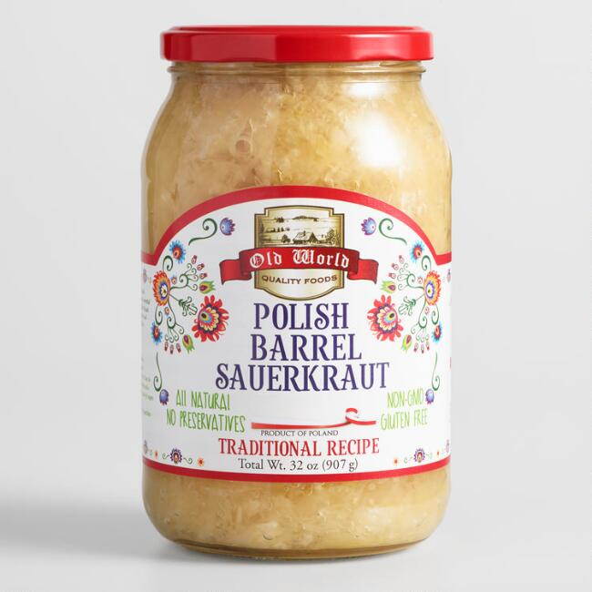 Old World Polish Barrel Sauerkraut Set of 2