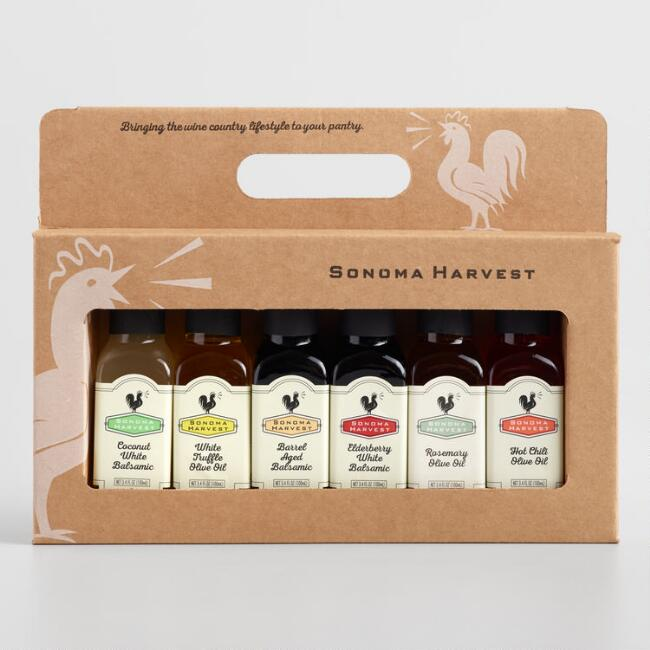 Sonoma Harvest Olive Oil & Balsamic Vinegar Gift Set 6 Pack