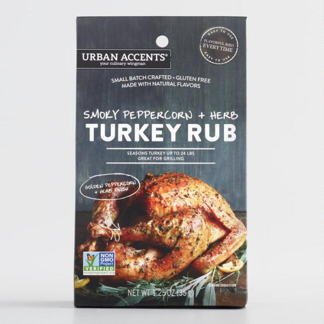 Urban Accents Smoky Peppercorn and Herb Turkey Rub Set of 2