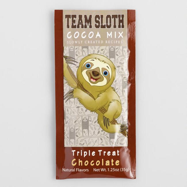 Team Sloth Triple Treat Chocolate Hot Cocoa Mix Packet
