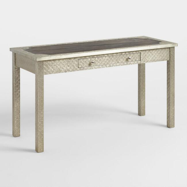 Embossed Metal Clad Wood Kiran Desk