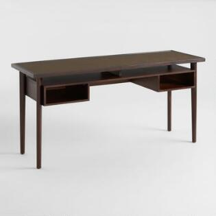Home office furniture desks chairs world market espresso brown cane top randall desk gumiabroncs Choice Image