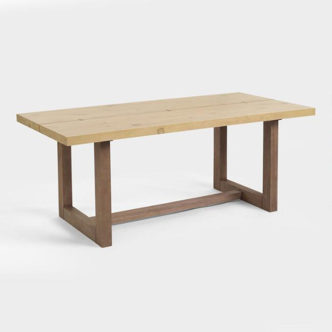 Two Tone Johan Slit Top Dining Table