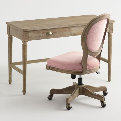Enjoyable Blush Pink Distressed Wood Paige Office Chair Gamerscity Chair Design For Home Gamerscityorg