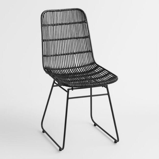 Black Wicker Emily Chair