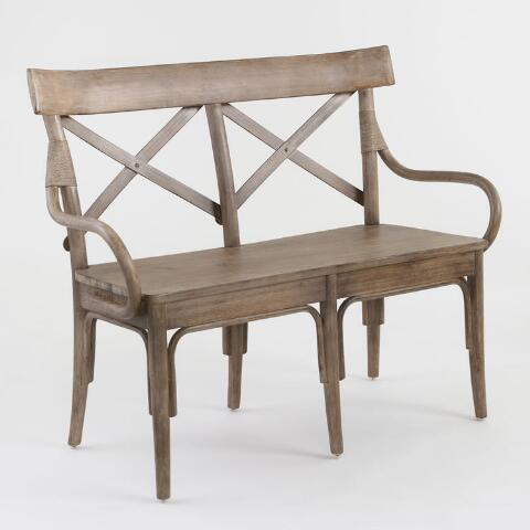 Cool Graywash Bistro Dining Bench Andrewgaddart Wooden Chair Designs For Living Room Andrewgaddartcom