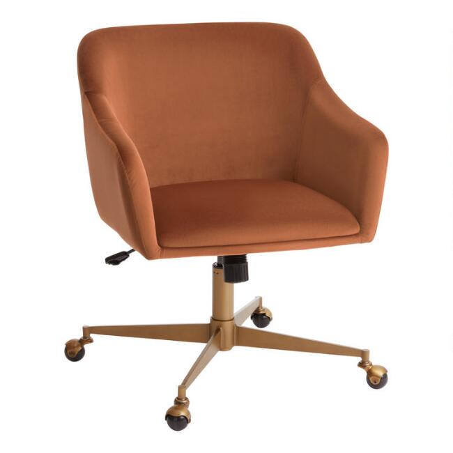 Warm Green Mid Century Zarek Office Chair World Market