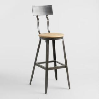 Metal And Wood Wyatt Pub Stool