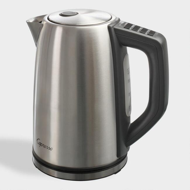 Capresso H2O Steel PLUS Electric Tea and Coffee Kettle