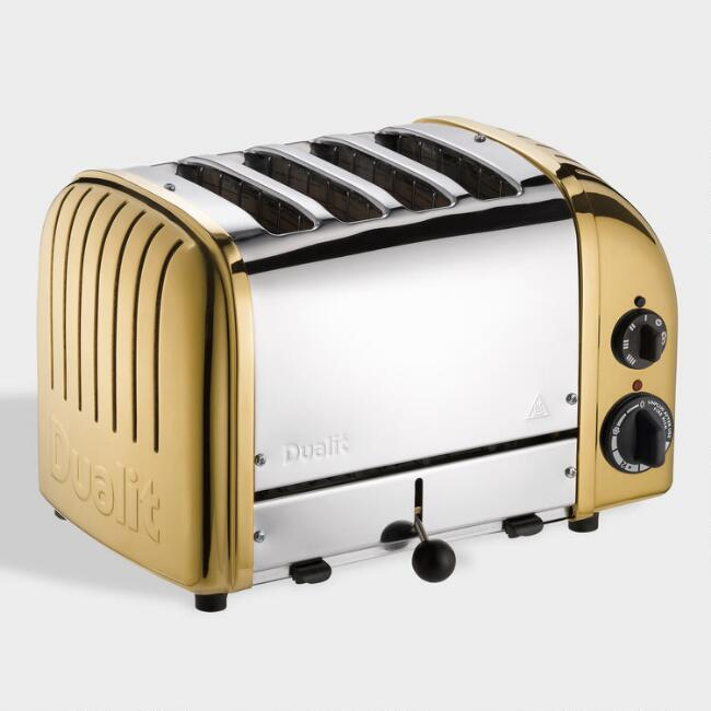 Brass Dualit New Generation Classic 4 Slice Toaster
