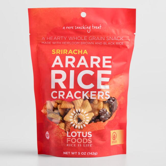 Lotus Foods Sriracha Arare Rice Crackers