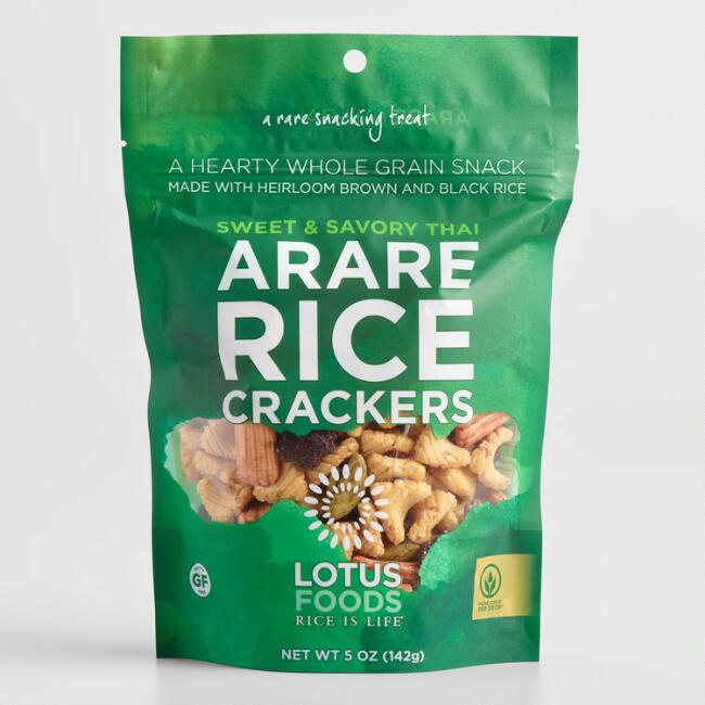 Lotus Foods Sweet and Savory Thai Arare Rice Crackers