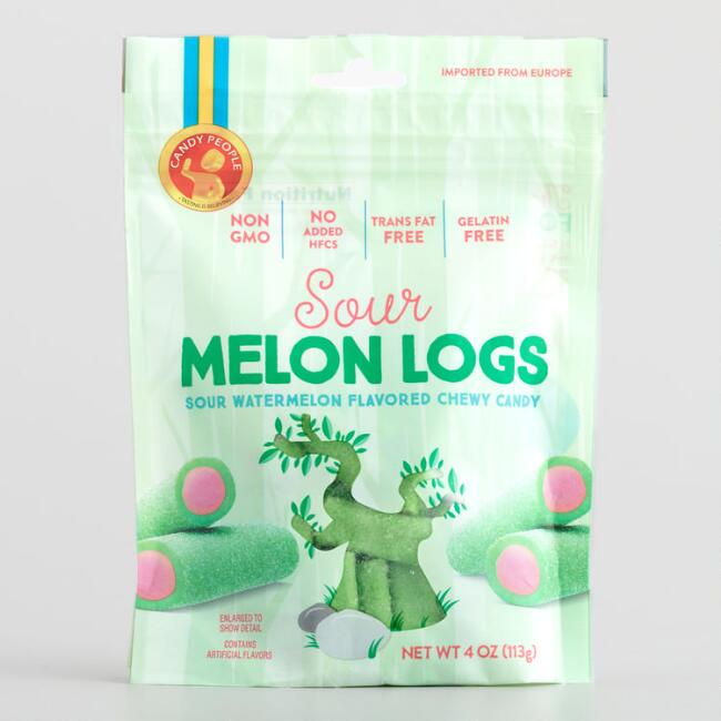 Candy People Sour Watermelon Logs Gummy Candy