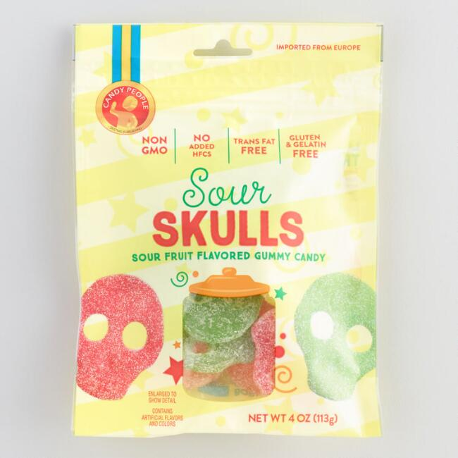 Candy People Sour Skulls Gummy Candy