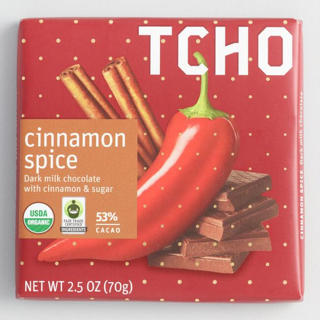 TCHO Organic Cinnamon Spice Milk Chocolate Bar