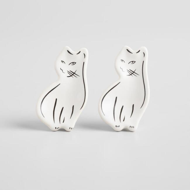 Ceramic Cat Knobs Set of 2