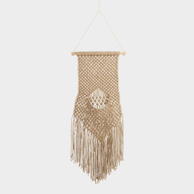 Jute Macrame Wall Plant Hanger by World Market