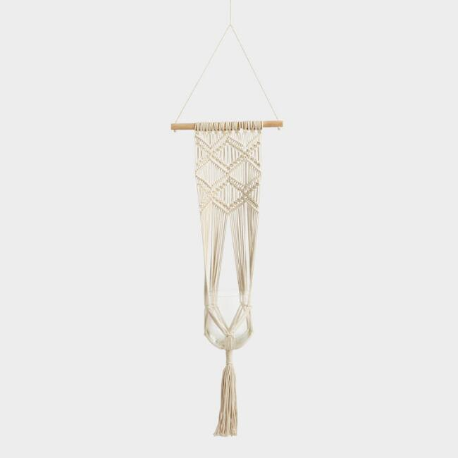 Natural Cotton Macrame Wall Plant Hanger