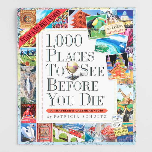 1000 Places To See Before You Die 2019 Wall Calendar