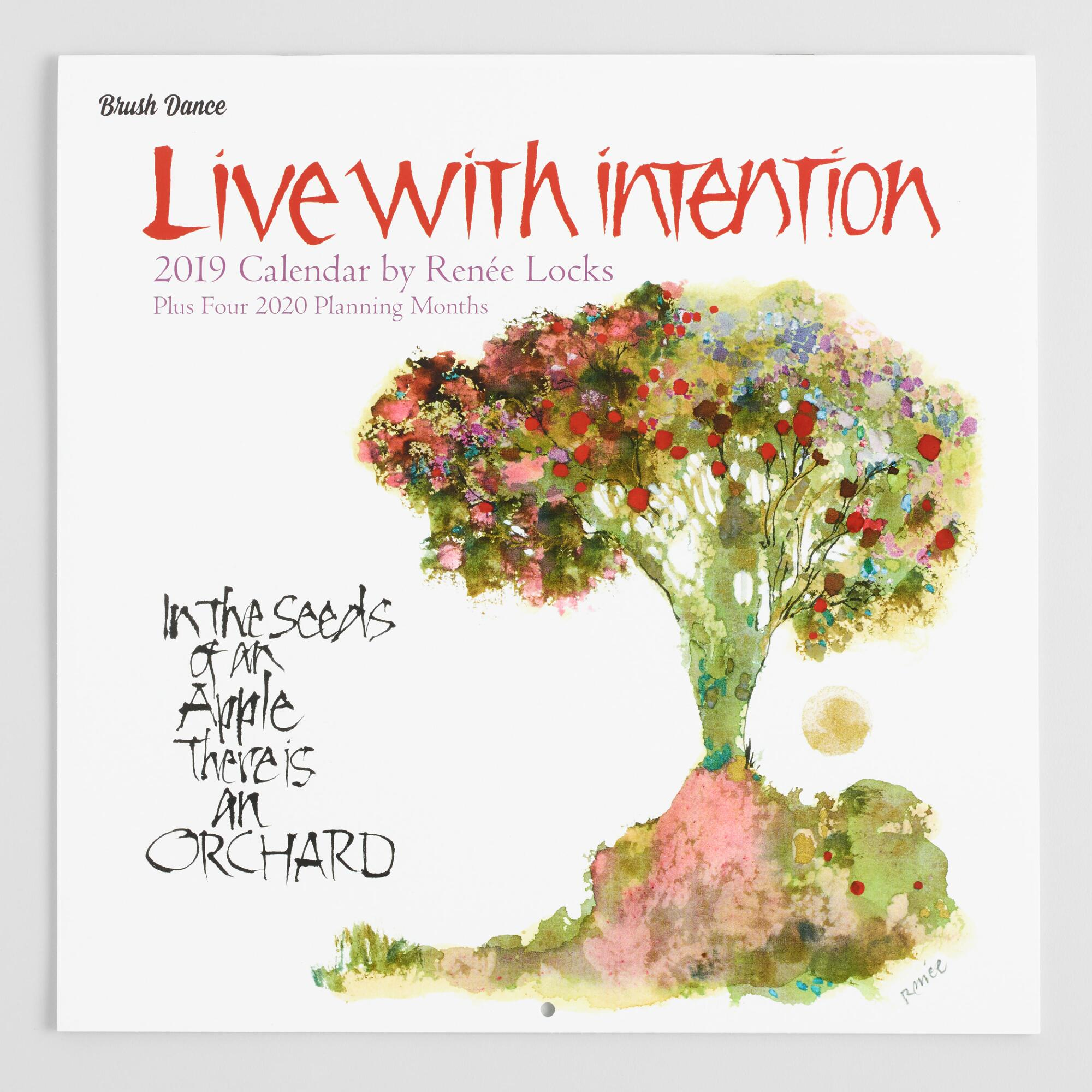 Live with Intention 2019 Wall Calendar by World Market