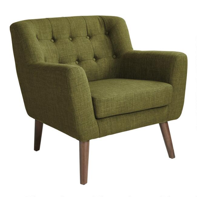 Green Mid Century Tufted Shay Chair