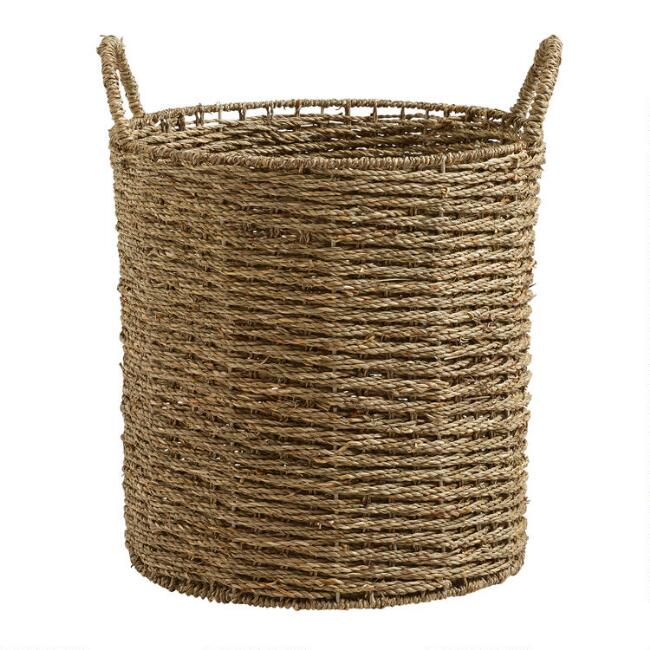 Natural Seagrass Trista Tote Basket
