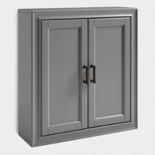Gray Wood Oden Bathroom Wall Cabinet