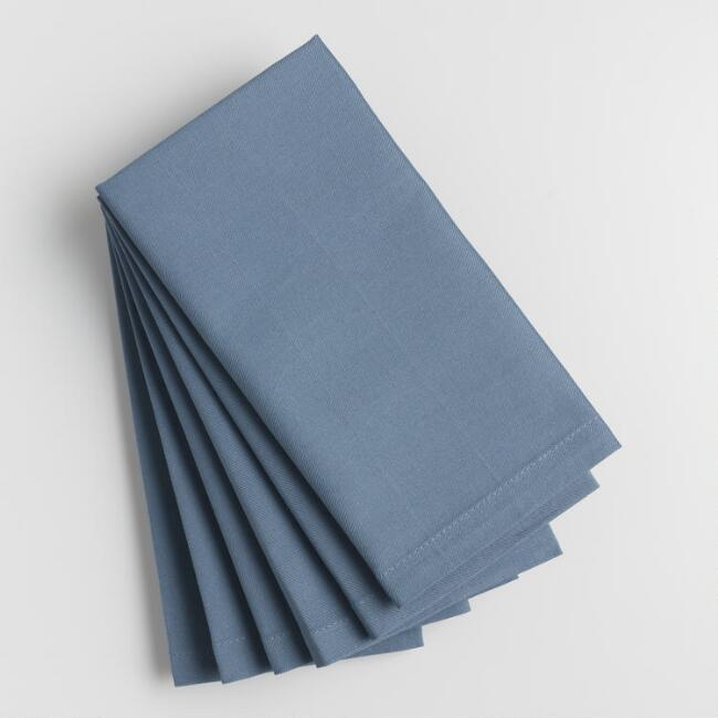 Cornflower Blue Buffet Napkins Set of 6