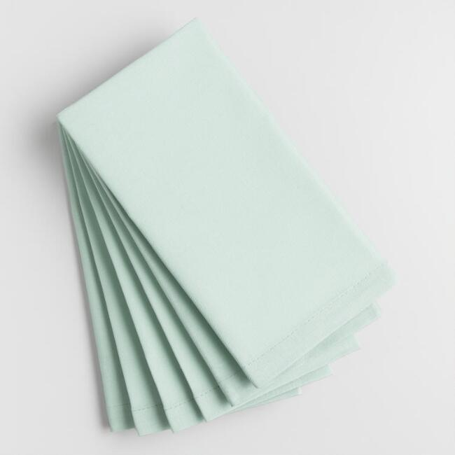 Surf Spray Aqua Buffet Napkins Set of 6