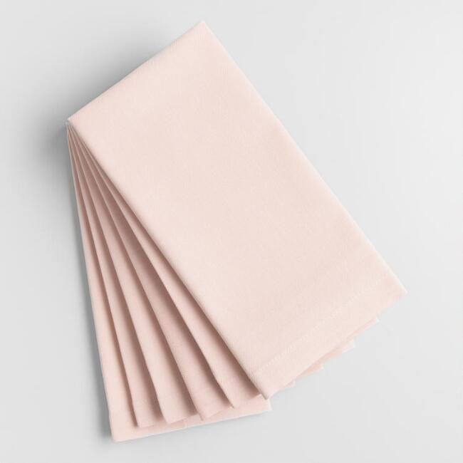 Light Pink Buffet Napkins Set of 6