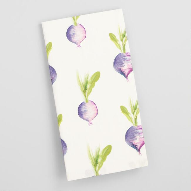 Watercolor Turnips Kitchen Towel
