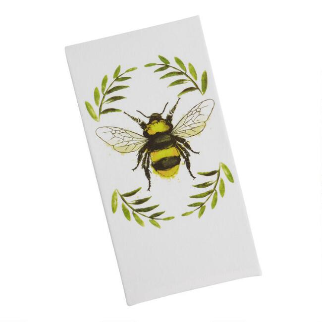 Watercolor Bee Kitchen Towel
