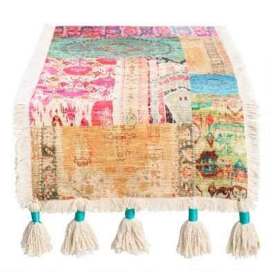Multicolor Patchwork Haveli Table Runner