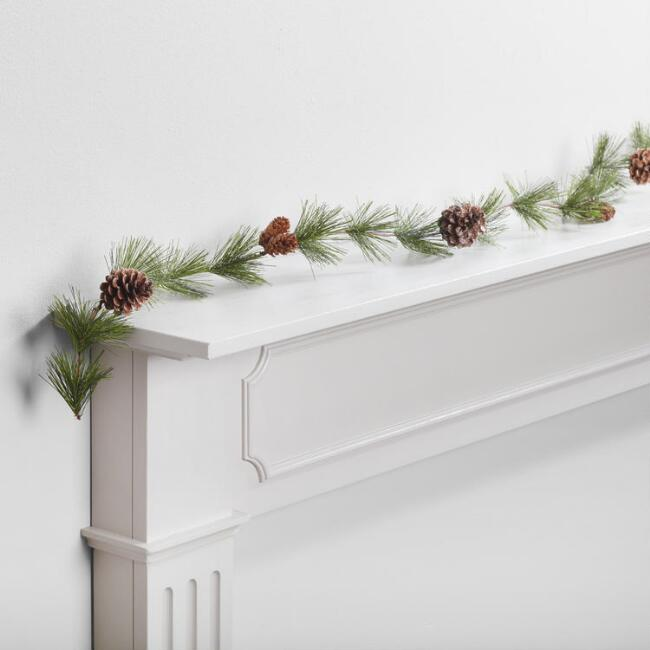 Snowy Pine and Pinecone Garland