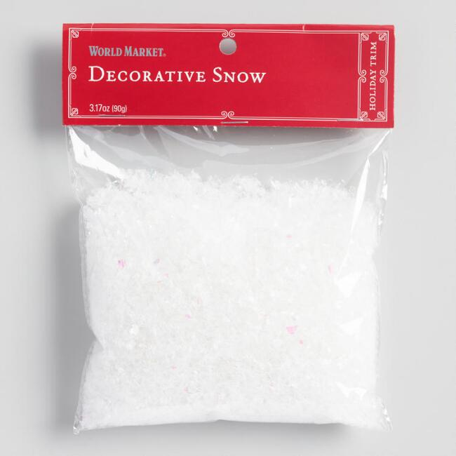 Decorative Artificial Snow with Glitter Set of 2