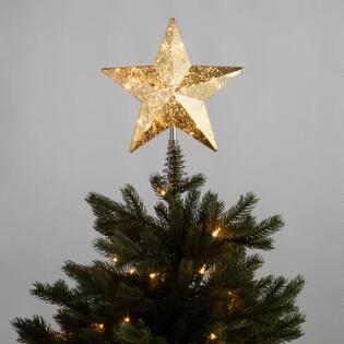 gold star led light up tree topper