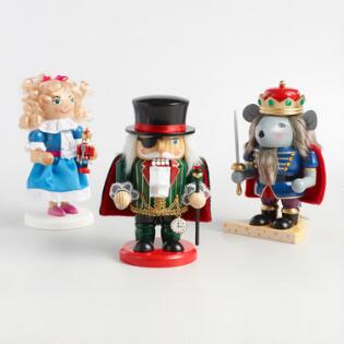 the nutcracker suite chubby nutcrackers set of 3 - Nutcracker Christmas Decorations