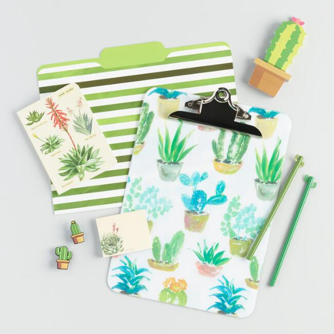 Cacti and Succulents Stationery Collection