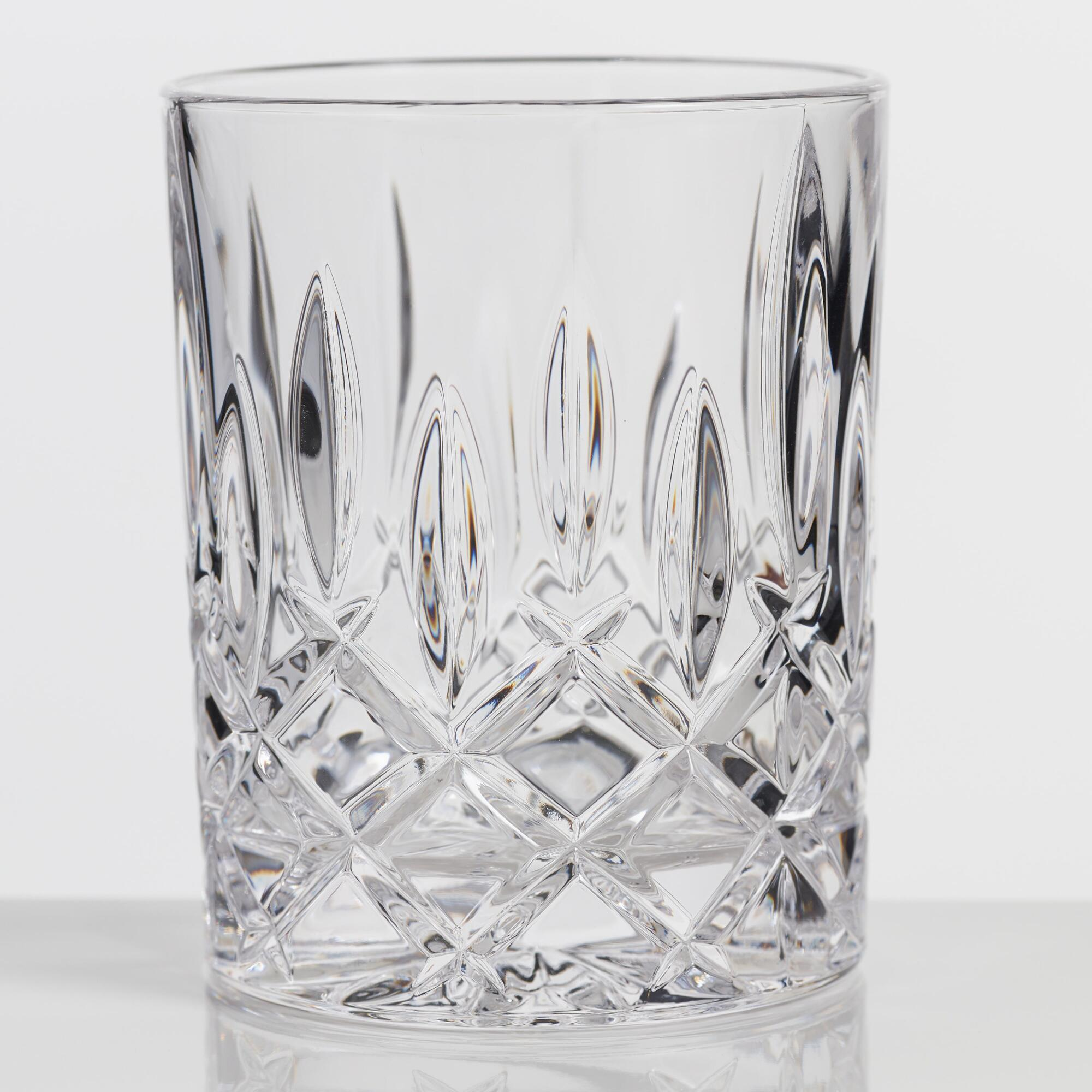 Nachtmann Noblesse Cut Glass Whiskey Glasses Set of 4 by World Market