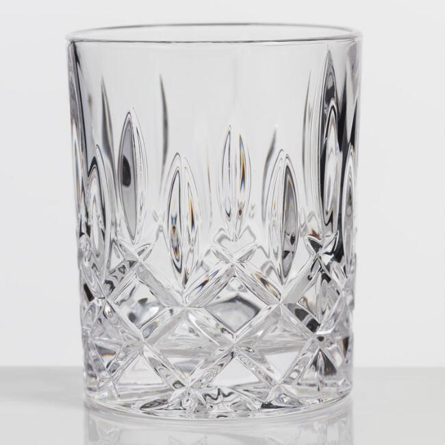 Nachtmann Noblesse Cut Glass Whiskey Glasses Set of 4