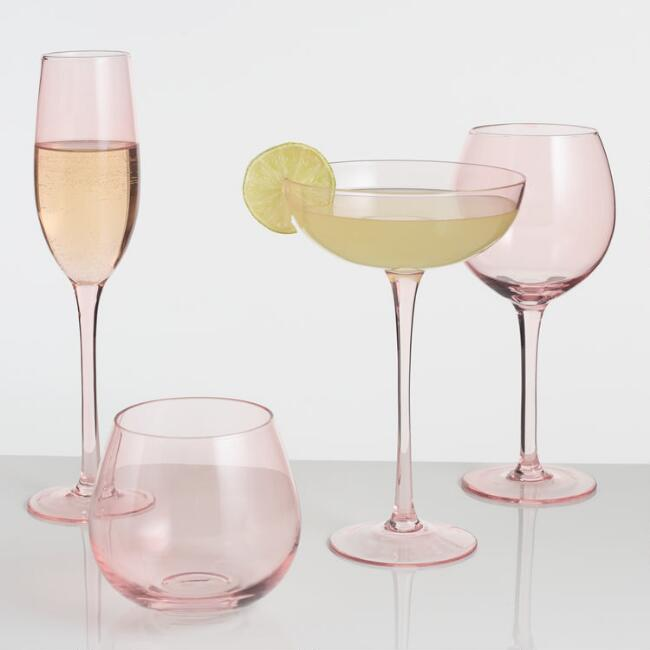 Blush Pink Glassware Collection