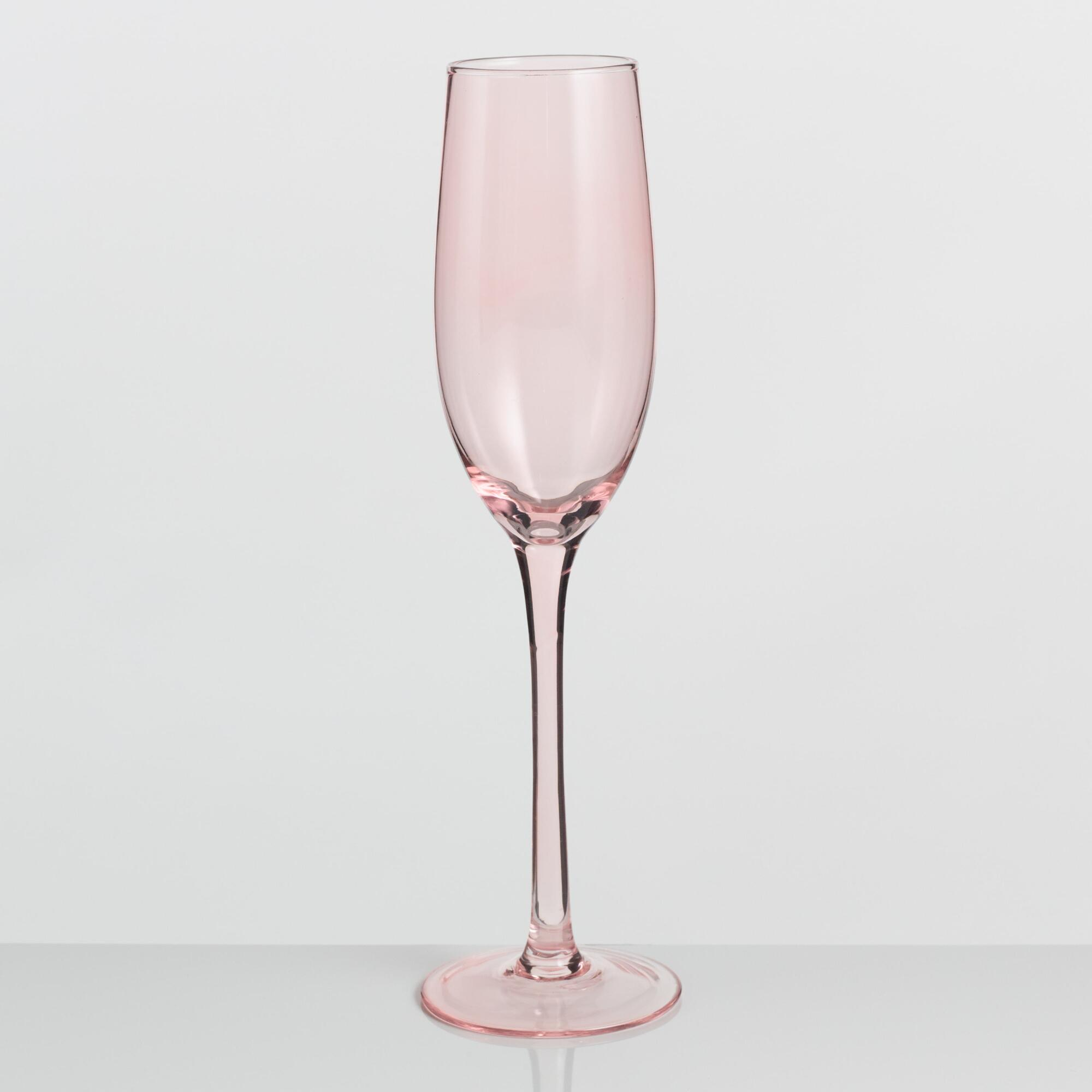 Blush Pink Champagne Flutes Set of 4 by World Market