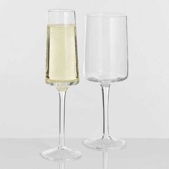 Square Rim Glassware Collection